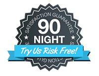 Try our mattresses for 90 Nights Risk Free!